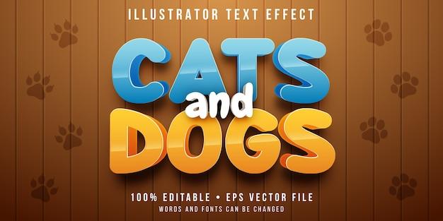Редактируемый текстовый эффект - стиль мультяшных животных