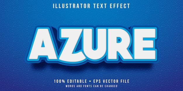 Редактируемый текстовый эффект - лазурный синий стиль