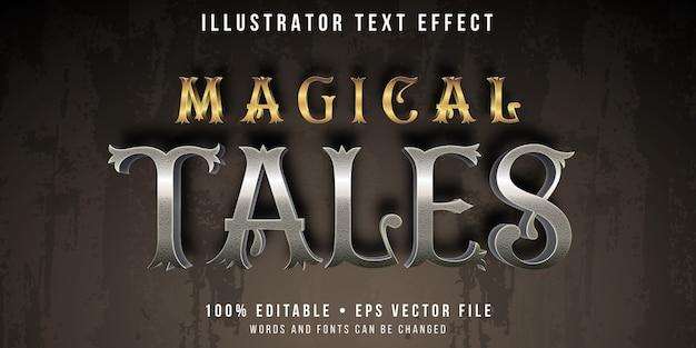 Редактируемый текстовый эффект - стиль народных сказок