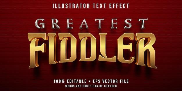 Редактируемый текстовый эффект - стиль золотой скрипач
