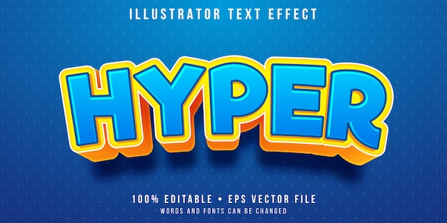Редактируемый текстовый эффект - гипер детский стиль