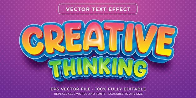 Редактируемый текстовый эффект - креативный детский стиль