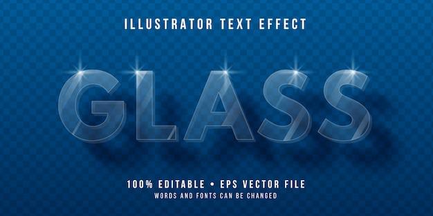 編集可能なテキスト効果-透明なガラススタイル