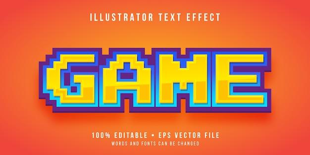 編集可能なテキスト効果-ゲームのピクセルスタイル