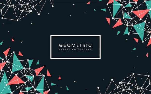 平らな幾何学的図形の背景