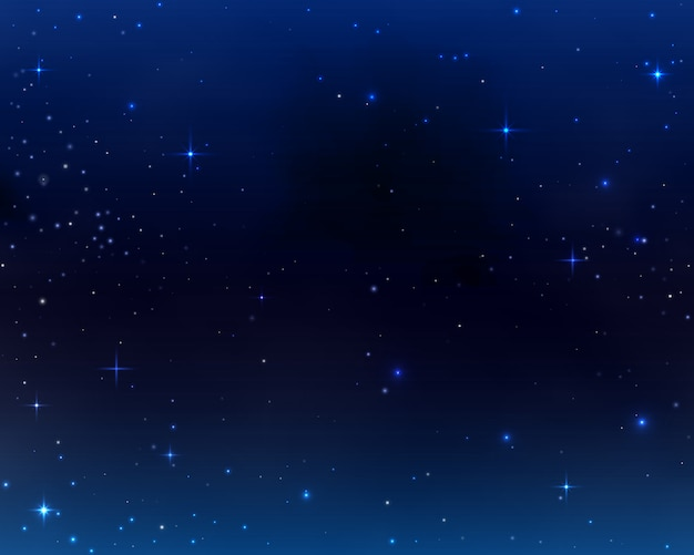 スペースの背景、銀河の宇宙、星と宇宙の星雲と空の暗い青色の抽象的な背景。