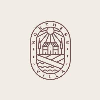 Винтажная вилла с логотипом