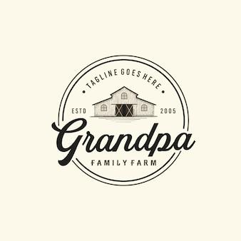 Винтажные фермы типография логотип