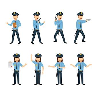 警官キャラクターデザインベクター