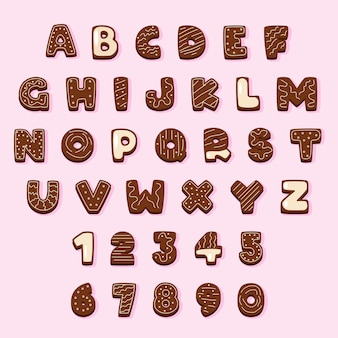 Пряник шоколадный рождественский алфавит