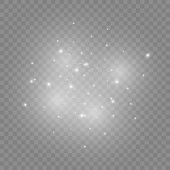 Белые искры и золотые звезды сияют особым светом.