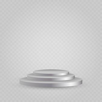 白い表彰台