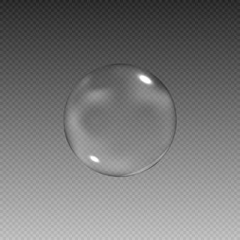 Реалистичные мыльные пузыри с радугой отражения набор изолированных векторные иллюстрации.