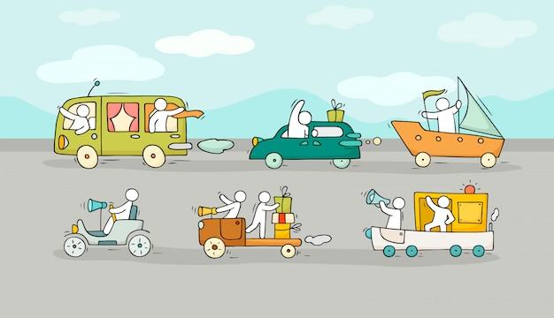 さまざまな交通手段の背景。