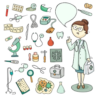 Комплект врача и лабораторного оборудования
