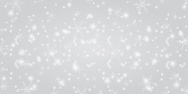 クリスマスの背景と輝く雪