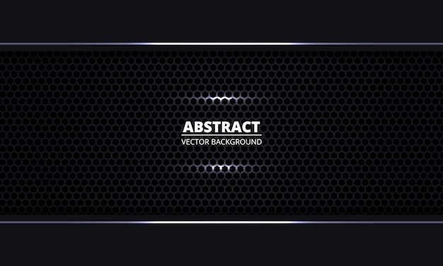 黒の抽象的な背景。黒い金属の質感鋼六角形グリッド背景。ダークカーボンファイバーの質感。