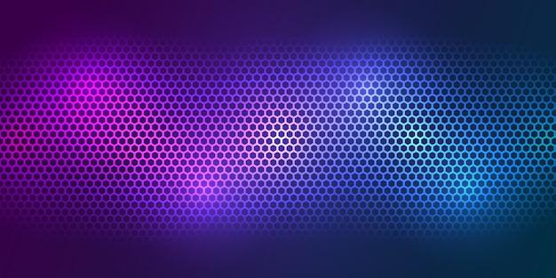 カラフルな背景。明るい色の炭素繊維テクスチャ。六角形の金属の質感の鋼の背景。