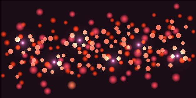 Роскошный красочный блеск боке огни фон. абстрактный расфокусированным циркуляр.