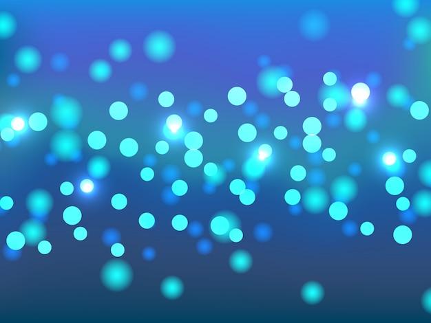 お祝いの青いボケ背景。