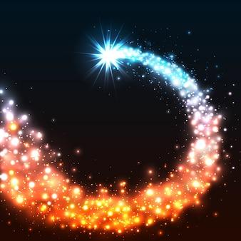 カラフルな輝く星