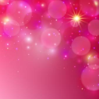 ピンクの輝く背景