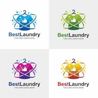 最高の洗濯ロゴデザイン
