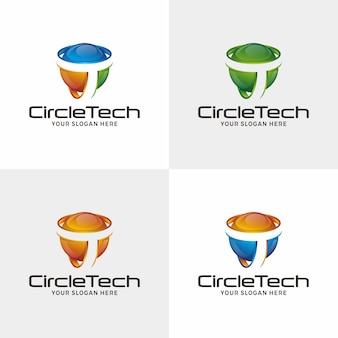 抽象的なサークルのロゴデザイン