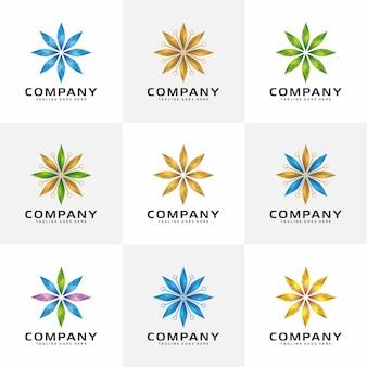 輝く抽象的なクリスタルのロゴ