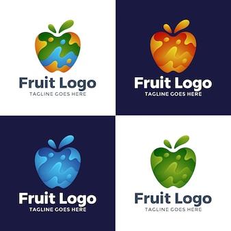 モダンな抽象フルーツのロゴデザイン