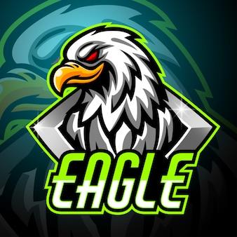 Орел талисман киберспорт дизайн логотипа