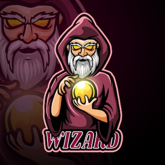 Мастер талисмана киберспорт дизайн логотипа