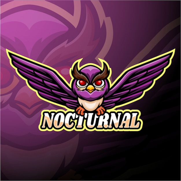 Ночной киберспорт логотип дизайн талисмана