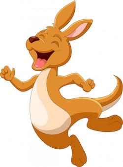 Мультфильм смешной кенгуру счастлив