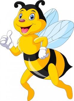 親指をあきらめて漫画幸せな蜂