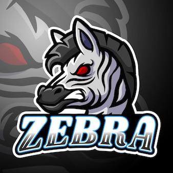 Зебра киберспорт логотип дизайн талисмана