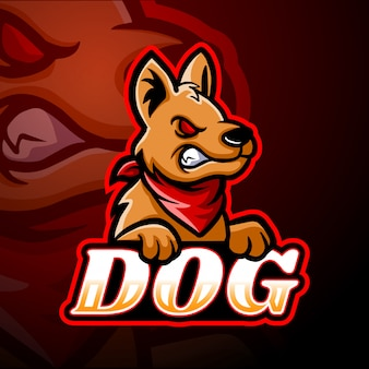 Собака киберспорт логотип дизайн талисмана