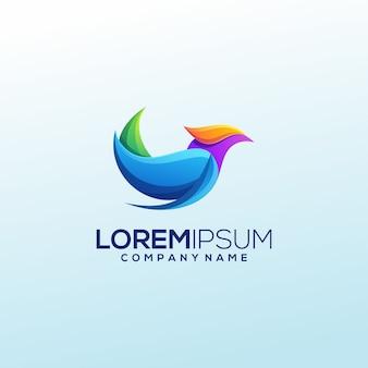 現代の鳥のロゴデザイン