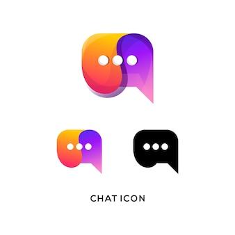 チャットのロゴまたはアイコン