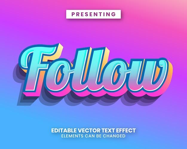 Современный градиент цвета, редактируемый текстовый эффект