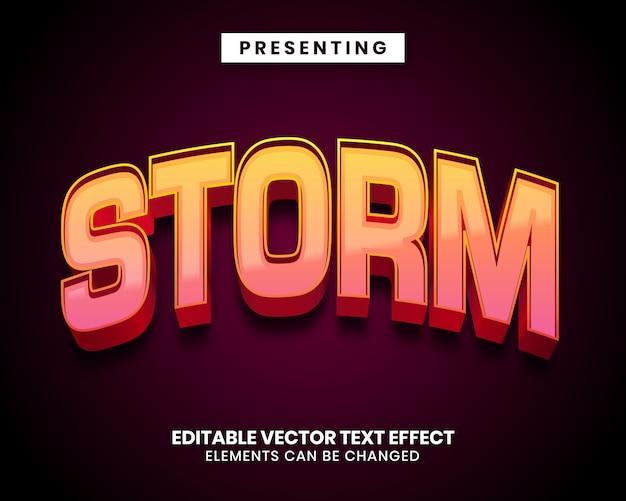 Редактируемый текстовый эффект - стиль игры шторм