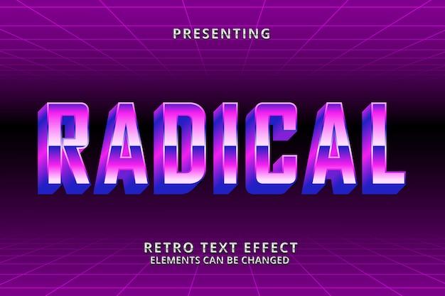 Ретро футуристический редактируемый текстовый эффект