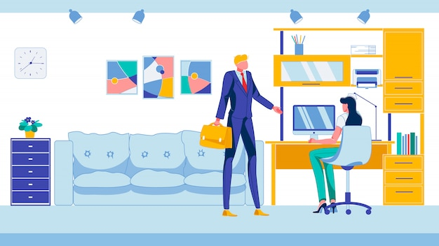 Офисное подчинение и сотрудничество сотрудников