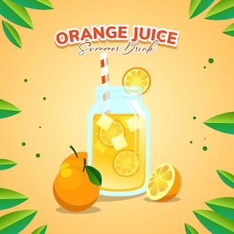 夏の飲み物のオレンジジュース
