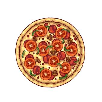 Пицца иллюстрация
