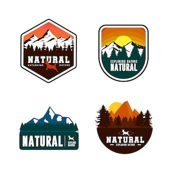 山のロゴのテンプレートデザイン