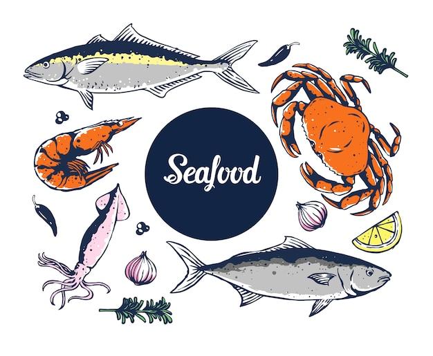 Комплексное меню из морепродуктов