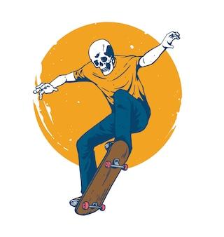 Череп скейтборд