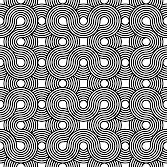 壁紙、カバー、カードの不可能な幾何学的なシンボルベクトルシームレスパターン