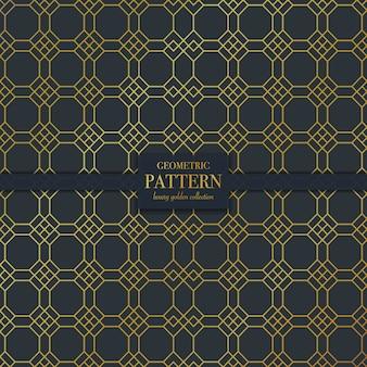 幾何学的な高級暗い黄金の抽象的な線のテクスチャパターン